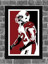 Arizona Cardinals Honey Badger Tyrann Mathieu Portrait Sports Print Art 11x17