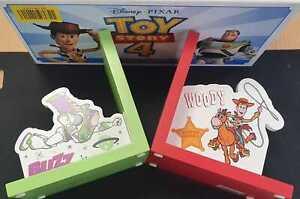 Disney PIXAR TOY STORY 4 BUZZ LIGHTYEAR & WOODY MDF Book Ends