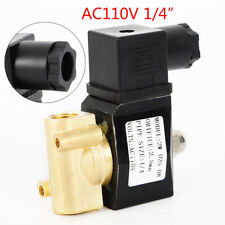 1/4'' NPT Solenoid Valve Water Electric Gas Oil Air N/C Pneumatic Brass Welder .