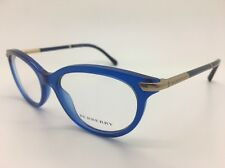 Burberry Eyeglasses B2177 3492 BLUE GOLD Frame WOMAN 51mm RARE NEW BEAUTIFUL