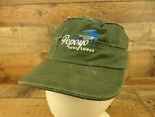 Popoyo Surf Lodge Cadet Hat Cap Nicaragua Military Distressed Green Adjustable