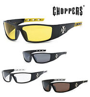 f37b8244627 1 PAIR Choppers Mens Riding Biker Motorcycle Day Night Glasses Sunglasses  C50