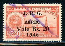 VENEZUELA Used Selections: Scott #C227 20B/20B J.R.G. SCHG 1946 CV$22+