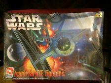 STAR WARS IMPERIAL TIE FIGHTERS MODEL KIT, 1997 AMT ERTL , SEALED, SKILL LEVEL 2