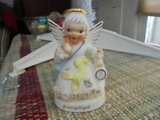 Vintage Napco January Angel Very Good Condition Collectible