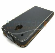 FUNDA PIEL PREMIUM NEGRA ULTRA-SLIM para HTC ONE MINI (M4)
