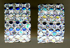 925 Sterling Silver Clear Cubic Zirconia  Large Oblong Stud Earrings  16mm x10mm