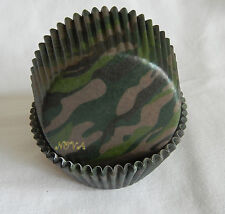 50 camouflage green cupcake liners baking paper cup muffin party standard size
