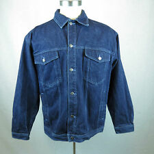 Culture Jeans Embroidered Back Navy Denim Jean Jacket XL