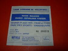 Billet match France - Russie - Bulgarie - République Tcheque - 27 août 1999 - 02