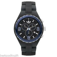 NEW ADIDAS CAMBRIDGE ACRYLIC MATTE GREY/GRAY+SILVER CHRONO WATCH+DATE ADH2567