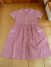 MARKS AND SPENCER  RED GINGHAM PLUS FIT SIZE SCHOOL DRESS 8 9 10 11 12 bnwt