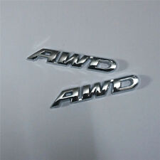 2x Metal AWD Chrome Emblem Sticker Badge Decal Car Drive 4wd 3D Motor Hatchback