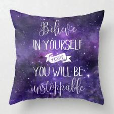 18'' Purple Pillow Case Cotton Linen Waist Throw Cushion Cover Home Sofa Decor