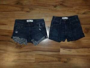 womans juniors misses size 00 24 low and high rise short shorts Abercrombie & Fi