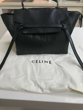 Celine black embossed leather belt bag
