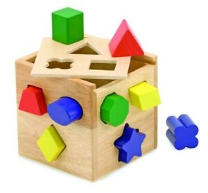 Melissa and Doug - Wooden Shape Sorting Cube * NEW classic toy child learn skill