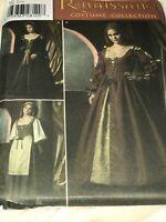 Simplicity 4488 Size 16-24 Renaissance Costume Collection Misses Dress Peasant