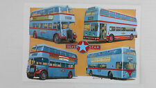 SILVER STAR - MONTAGE OF LEYLAND DOUBLE DECK BUSES