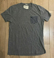 Abercrombie & Fitch Men's Muscle T Shirt Grey Short Sleeve Medium Cotton Blend