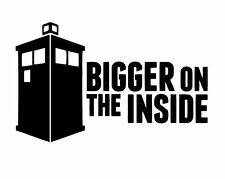 Decal Vinyl Truck Car Sticker - Dr. Who Tardis Bigger On The Inside