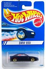 Hot Wheels BMW 850i Blue With Gold Wire SP's International Blue Card 1995