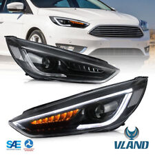 VLAND LED Scheinwerfer für Ford Focus MK3 2015-18 Frontscheinwerfer Mit Dynamisc