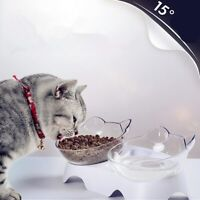 Pet Cat Dual Use Cat Food Bowls Protect Cervical Water Drinking Bottle