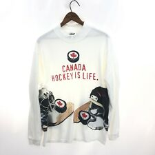 BIG BALL SPORTS BBS T-shirt Long Sleeve M Hockey is Life Vintage Made in USA