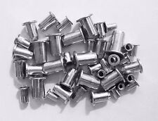 Threaded Flanged Rivet Captive Nut, Rivnut, nutsert M4. M5. M6. M8. 40 Pk.
