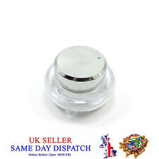 Knob for Potentiometer and Base Holder Protector Plastic Cap 25mm Silver