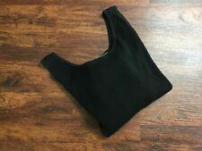 LINDA ALLARD ELLEN TRACY Sleeveless Black Cotton Sweater Dress Women's Size S