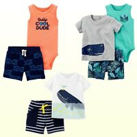 NWT New Carter's  Baby Boys' 2 or 3 Piece Short Sets Playwear Summer New