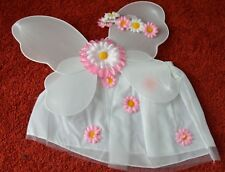 Pink flower fairy wings, tutu, and garland set small 40 x 30cm childrens party