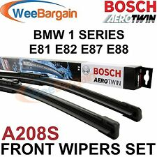 BMW 1 Series E81 E82 E87 E88 Genuine BOSCH A208S Aerotwin Front Wiper Blades Set
