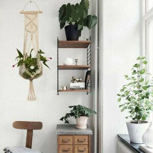 Macrame Plants Hangers Flowers Pot Holder Hanging Jute Rope Wall Garden Art UK·