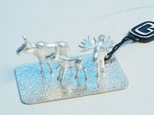 Solid Silver Moose family, made in Sweden