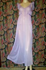 Vintage Kickernick Restware 1950's Lacy Nylon Tricot Nightgown Nighty Lingerie
