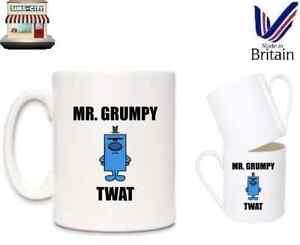MR GRUMPY TWAT NOVELTY COFFEE TEA BRAND NEW BOXED MR MEN STYLE MUG CUP BREW MG11