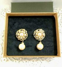 Cotton pearl gorgeous kawaii earrings for weddings from Japan