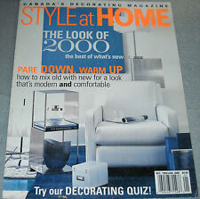 Style at Home Magazine Dec 1999/Jan 2000 The Look of 2000 The Best of What's New