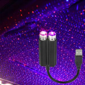 USB LED Car Interior Roof Atmosphere Star Night Light Lamp Projector Light Decor