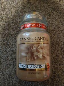 Yankee Candle VANILLA SATIN 22 oz Large Jar RARE HARD TO FIND!!