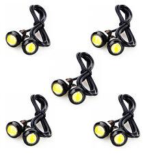 10Pcs Mini LED Car Driving Light DRL Headlight Fog Lamp Side Marker Amber 12V DC