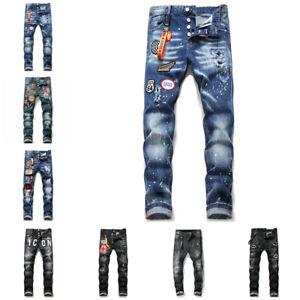 Dsquared2 Herren Jeans DSQ2 Jeanshose Denim Hose Trousers Zerrissene Jeans Slim