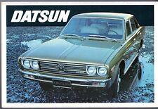 Datsun Nissan 1972-73 UK Market Foldout Brochure Cherry 1200 Bluebird 240C 240Z