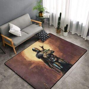 Star Wars Mandalorian Rugs Anti-Skid Area Rug Living Room Soft Floor Mat Carpet