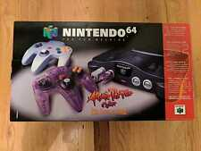 BRAND NEW UNCIRCULATED NINTENDO 64 ATOMIC PURPLE PULLED FROM FACTORY CASE RARE