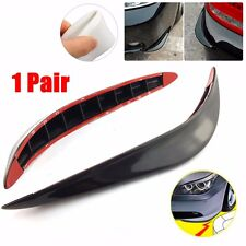 Decor Silicone Black Carbon Fiber Side Sewn Side Lip Guard Splitter Spoiler Car