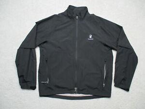 Zero Restriction Jacket Mens Medium Black Tour Series Windbreaker Long Sleeve